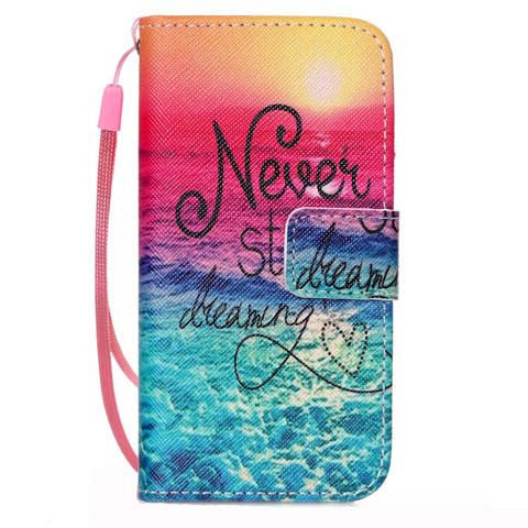 Never Stop Dreaming PU Stand Case For iPhone 5S/6/6S/6 plus - CELLRIZON