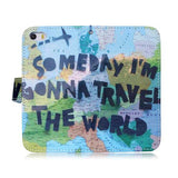 Someday I'm Gonna Travel The World Stand Leather Case For iPhone 6 - CELLRIZON