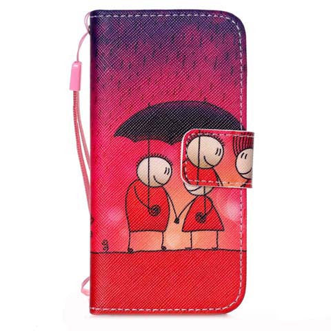 Rain Couples Leather Phone Case for iPhone 5s - CELLRIZON