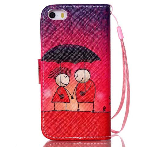 Rain Couples Leather Phone Case for iPhone 6/ 6 Plus - CELLRIZON