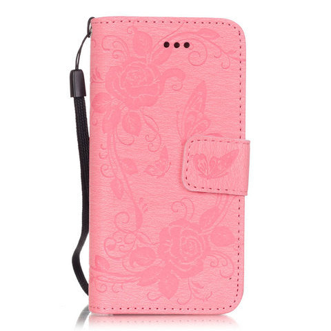 Butterfly Flower Wallet Case For Iphone Series - CELLRIZON
