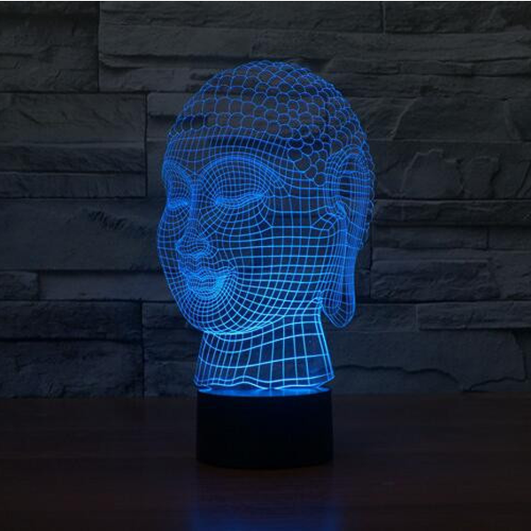Buddha 7 Color Changing 3D Novelty LED Lamp - CELLRIZON  - 4