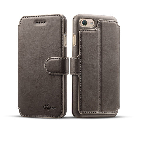 Clearance Calf Covered Wallet Phone Case For  IPhone7& 7 Plus