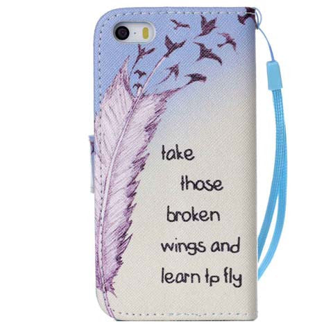 The feathers fly wallet standard case for iphone 5s - CELLRIZON