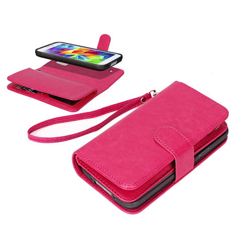 Magnetic Leather 9 slots Wallet Case for Samsung S5 - CELLRIZON