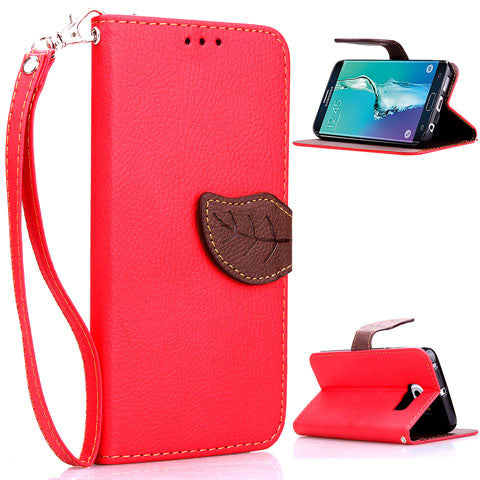 leaves lock wallet standard case for Samsung Galaxy S6 edge plus - CELLRIZON
