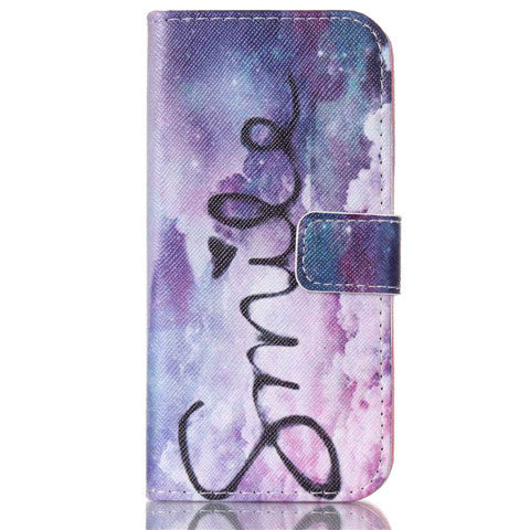 Purple Smile Stand Leather Case For Iphone 6/6 plus - CELLRIZON