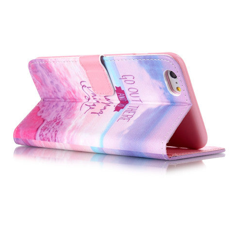 Pink Stand Leather Case For Iphone 6 plus - CELLRIZON