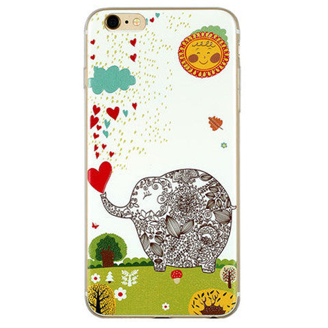 Lovely Elephant TPU Case for iPhone 6 Plus - CELLRIZON