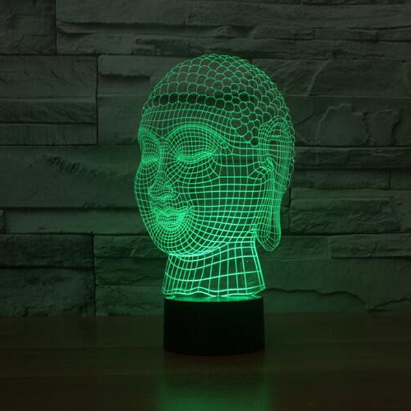Buddha 7 Color Changing 3D Novelty LED Lamp - CELLRIZON  - 5