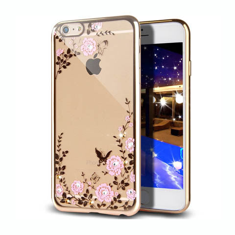 "Golden Electroplate Plating Frame TPU Soft Silicone Bumper Case Cover for iPhone 7 4.7'' or Plus 5.5"" - CELLRIZON  - 4"