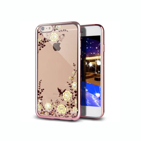 "Golden Electroplate Plating Frame TPU Soft Silicone Bumper Case Cover for iPhone 7 4.7'' or Plus 5.5"" - CELLRIZON  - 6"