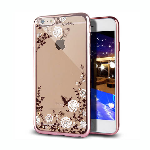 "Golden Electroplate Plating Frame TPU Soft Silicone Bumper Case Cover for iPhone 7 4.7'' or Plus 5.5"" - CELLRIZON  - 5"