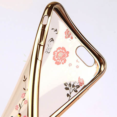 "Golden Electroplate Plating Frame TPU Soft Silicone Bumper Case Cover for iPhone 7 4.7'' or Plus 5.5"" - CELLRIZON  - 7"