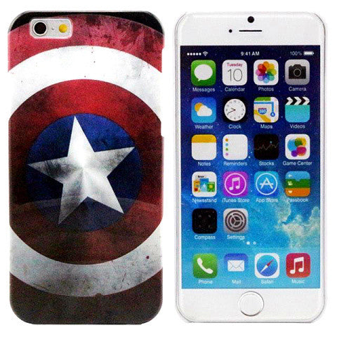 Captain America PC Hard Case for iPhone 6 Back Cover - CELLRIZON