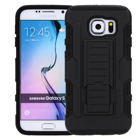 Armor Back Cover with Belt Clip for Samsung Galaxy S6/S6 Edge/S6 Edge Plus - CELLRIZON