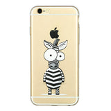 Zebra Pattern TPU Case for iPhone 6 4.7