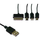 4 in 1 2.0 Micro USB Date Sync Charging Cable 30CM - CELLRIZON