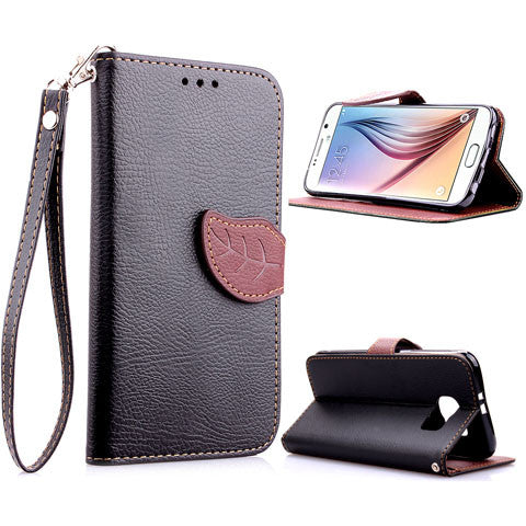 leaves lock wallet standard case for Samsung Galaxy S6 - CELLRIZON