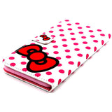 Bowknot Dot Imitation Leather Case for iPhone 6/6 Plus - CELLRIZON