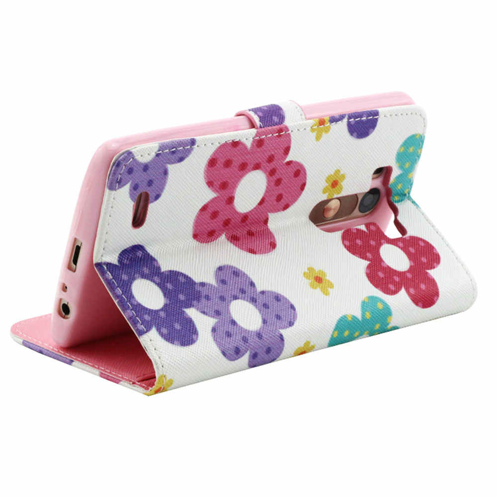 Flower Imitation Leather Wallet Case for LG G3 - CELLRIZON