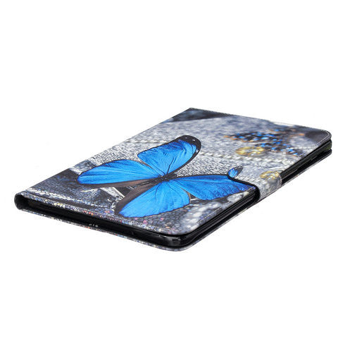 Blue Butterfly Tablet Case for Samsung Galaxy Tab E  9.6 T560 - CELLRIZON