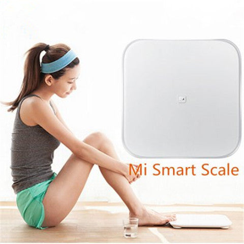 Bluetooth V4.0 Mi Smart Weight Scale by 4 x AA Battery  -  WHITE - CELLRIZON  - 1