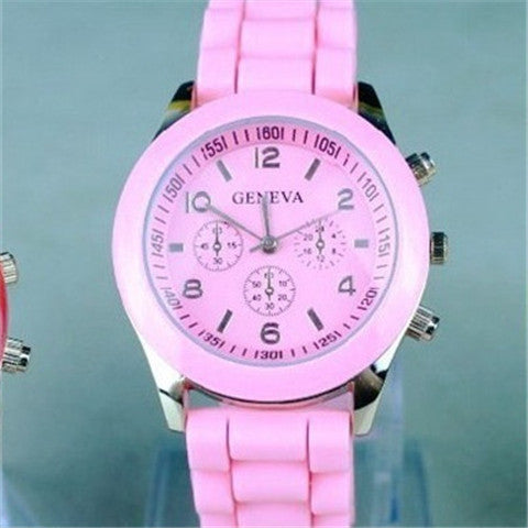Candy-colored Quartz Silicone Watch - CELLRIZON