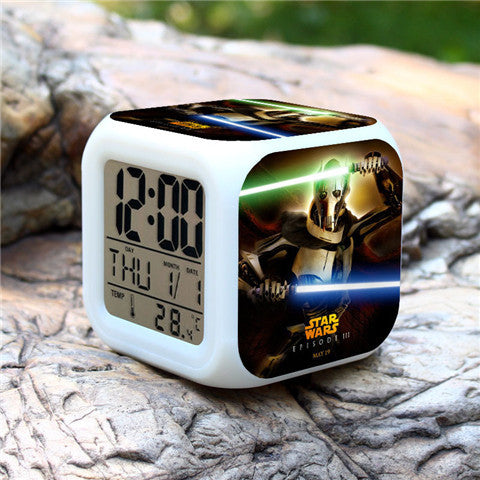 Colorful Star Wars Alarm Clock - Assorted Styles - Rama Deals - 6