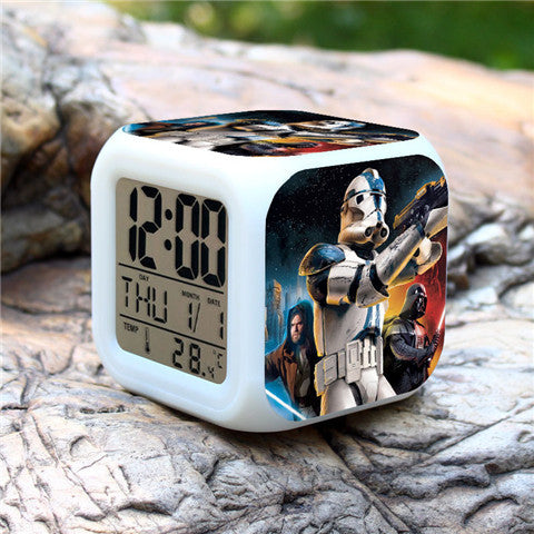 Colorful Star Wars Alarm Clock - Assorted Styles - Rama Deals - 7
