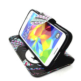 Stand Leather Case for Samsung Galaxy S5 - CELLRIZON