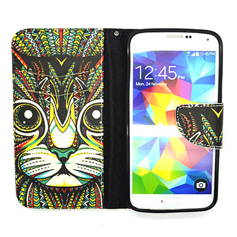 Leather Wallet Case for Samsung Galaxy S5 - CELLRIZON