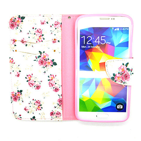 Floral imitation Leather Case for Samsung Galaxy S5 - CELLRIZON