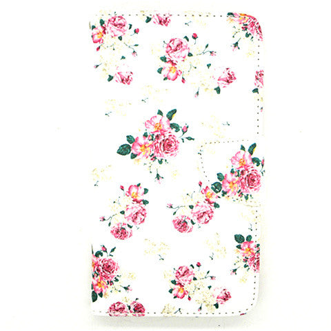Floral imitation Leather Case for Samsung Galaxy Note 4 - CELLRIZON