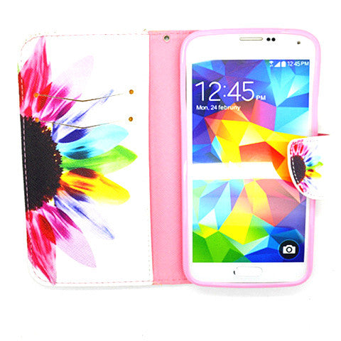 Side Flip Leather Case for Samsung S5 - CELLRIZON