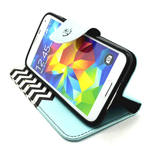 Wallet Leather Case for Samsung Galaxy S5 - CELLRIZON