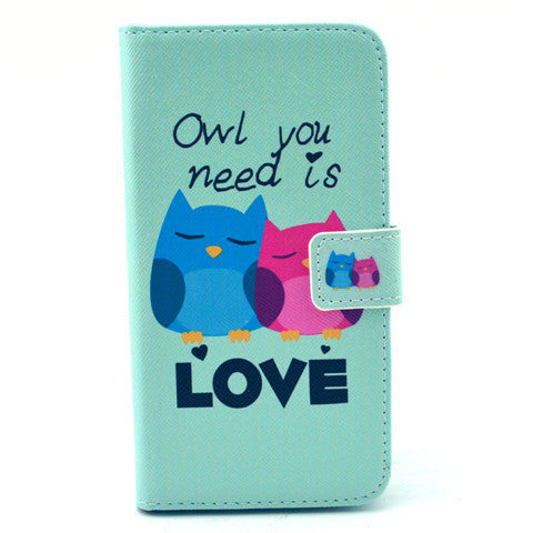 Love  PU Stand  Leather Case for Samsung S6 - CELLRIZON