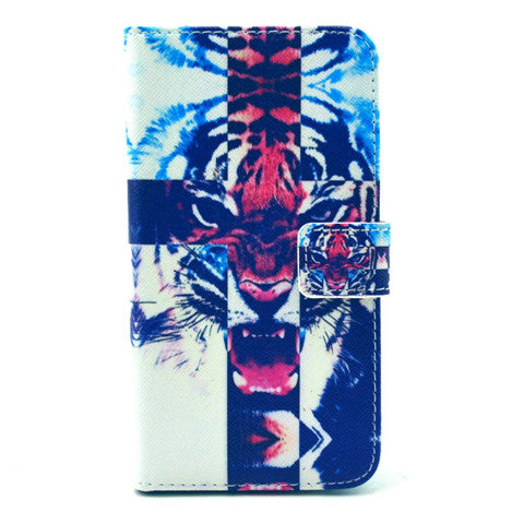 Tiger Stand Leather Case  For  Samsung S6 - CELLRIZON
