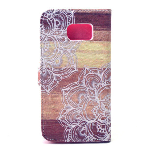 Lace Stand Leather Case  For  Samsung S6 - CELLRIZON