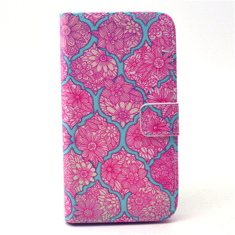 Pink Lace Stand Leather Case  For  Samsung S6/S6 Edge - CELLRIZON