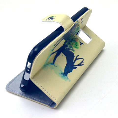 Reindeer Stand Leather Case  For  Samsung S6/S6 Edge - CELLRIZON