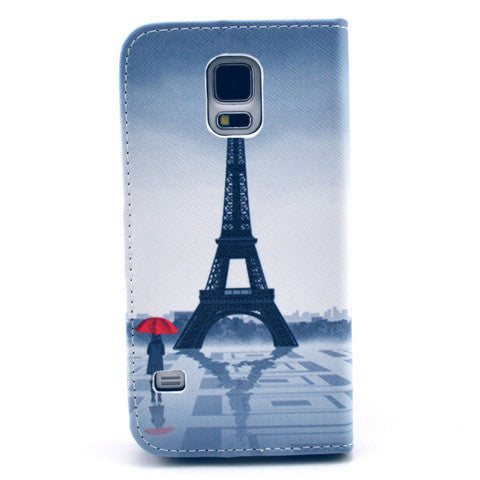 Tower girl Stand Leather Case For Samsung S5 - CELLRIZON