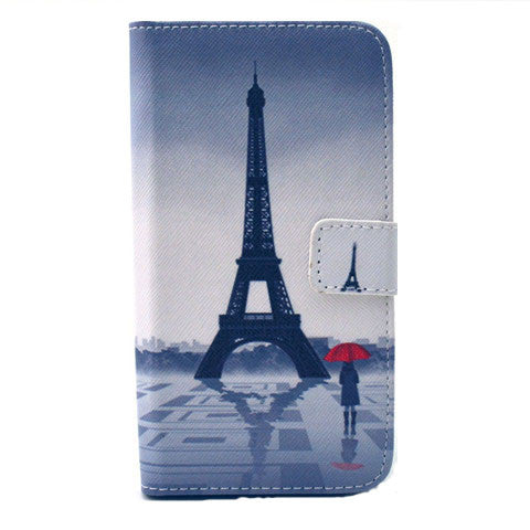 Tower Girl Stand Leather Case For Samsung S6 Edge - CELLRIZON