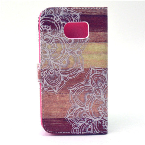 Lace Stand Leather Case For Samsung S6 Edge - CELLRIZON
