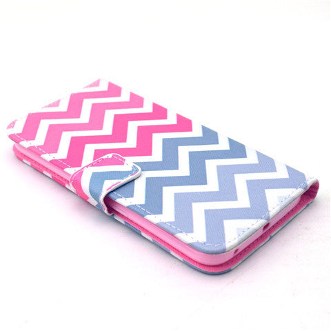 Pink Wave windStand Leather Case For Samsung S6 Edge - CELLRIZON