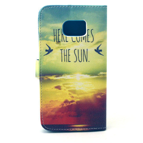 Sunrise Stand Leather Case For Samsung S6 Edge - CELLRIZON