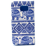 Elephant  Stand imitation Leather Case For Samsung S6 - CELLRIZON