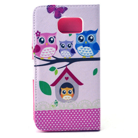 Cat Family Stand synthetic Leather Case for Samsung S6/S6 Edge - CELLRIZON  - 4