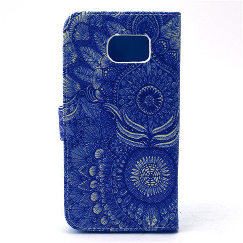 Sunflower Stand Leather Case For Samsung S6/S6 Edge - CELLRIZON