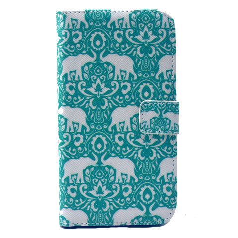 Green Eleplant Stand Leather Case For Samsung S6/S6 Edge plus - CELLRIZON